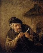 Adriaen van ostade Cutting the Feather oil